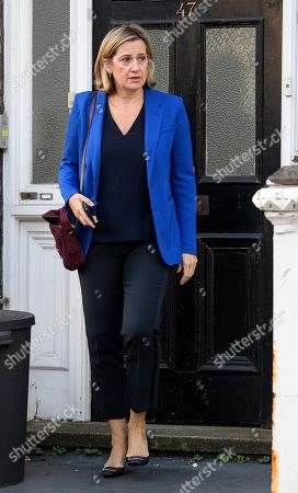Amber Rudd is seen leaving her home the morning after resigning from government and the Conservative Party