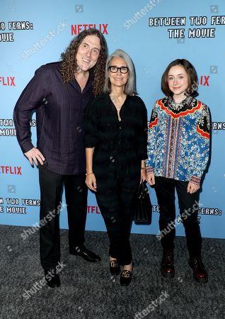 Weird Al Yankovic, Suzanne Yankovic, and Nina Yankovic