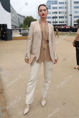 Editorial photo of Burberry show, Arrivals, London Fashion Week, UK - 16 Sep 2019