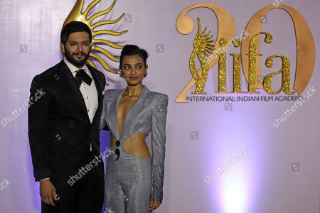 Ali Fazal and Radhika Apte pose while arriving for the IIFA Rocks event as part of the 20th International Indian Film Academy (IIFA) in Mumbai, India, 16 September 2019. The IIFA Rocks 2019 is a pre-awards show. The IIFA Awards 2019 will take place on 18 September.