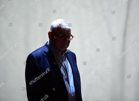 Former German Foreign Minister Joschka Fischer of the Green party (Die Gruenen) arrives for a talk with Green party (Die Gruenen) co-chairman Robert Habeck (not in the picture) in Berlin, Germany, 16 September 2019. Former German Foreign Minister Joschka Fischer of the Green party (Die Gruenen) and Green party (Die Gruenen) co-chairman Robert Habeck met for a talk on '40 years Alliance 90/The Greens' during the Internatinal Literature Festival in Berlin.
