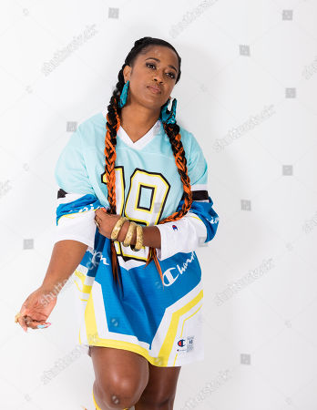 """Stock Picture of This photo shows Rapsody posing for a portrait in New York to promote her latest album """"Eve"""