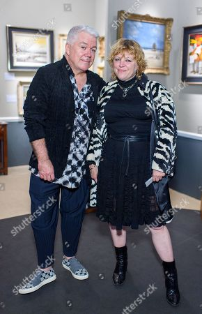 Stock Photo of Tim Blanks and Jess Hallett