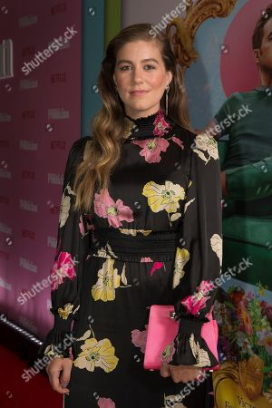 Laura Dreyfuss poses for photographers upon arrival at the UK premiere for The Politician, at a central London cinema