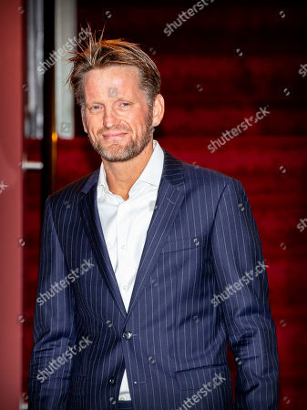 Prince Pieter-Christiaan arrives at a special performance of the NatuurCollege in Theater Carre.