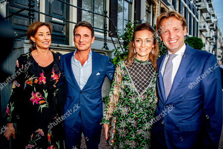 Princess Marilene and and Prince Floris and Princess Aimee and Prince Floris arrive at a special performance of the NatuurCollege in Theater Carre.