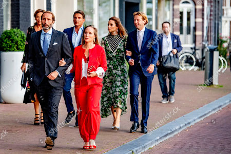 Princess Marilene and Prince Maurits and Prince Floris and Princess Aimee arrives at a special performance of the NatuurCollege in Theater Carre.