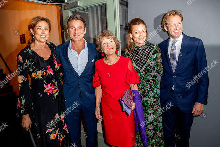 Stock Image of Princess Margriet, Princess Marilene, Prince Maurits, Prince Floris, Princess Aimee arrive at a special performance of the NatuurCollege in Theater Carre.