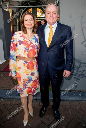 Prince Carlos and Annemarie Cecilia Gualtherie van Weezel arrives at a special performance of the NatuurCollege in Theater Carre.
