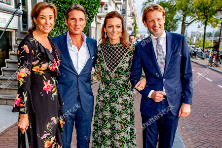 Princess Marilene and Princess Marilene, Prince Maurits and Princess Aimee and Prince Floris arrive at a special performance of the NatuurCollege in Theater Carre. and Princess Aimee arrives at a special performance of the NatuurCollege in Theater Carre.