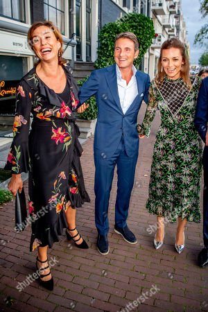 Princess Marilene and Princess Marilene, Prince Maurits and Princess Aimee arrive at a special performance of the NatuurCollege in Theater Carre. and Princess Aimee arrives at a special performance of the NatuurCollege in Theater Carre.