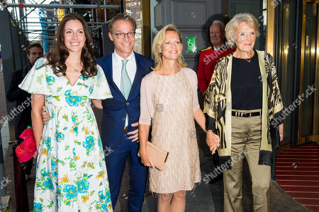 Prince Jaime of Bourbon-Parma and Princess Viktoria de Bourbon de Parme and Princess Carolina de Bourbon de Parme and Princess Irene arrives at Together - An Ode to Nature a special performance of the NatuurCollege in Theater Carre