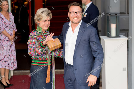 Prince Constantijn and Princess Laurentien arrives at Together - An Ode to Nature a special performance of the NatuurCollege in Theater Carre
