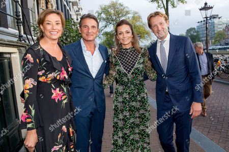 Prince Floris and Princess Aimee and Princess Marilene and Prince Maurits arrives at Together - An Ode to Nature a special performance of the NatuurCollege in Theater Carre