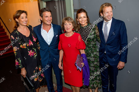 Stock Picture of Princess Margriet and Prince Floris and Princess Aimee and Princess Marilene and Prince Maurits arrives at Together - An Ode to Nature a special performance of the NatuurCollege in Theater Carre