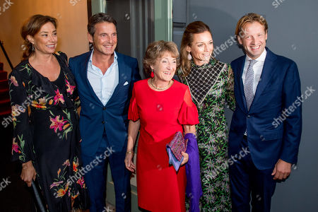 Stock Photo of Princess Margriet and Prince Floris and Princess Aimee and Princess Marilene and Prince Maurits arrives at Together - An Ode to Nature a special performance of the NatuurCollege in Theater Carre