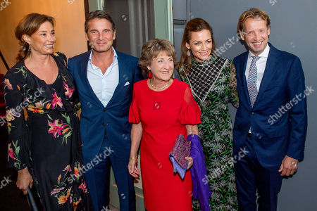 Princess Margriet and Prince Floris and Princess Aimee and Princess Marilene and Prince Maurits arrives at Together - An Ode to Nature a special performance of the NatuurCollege in Theater Carre