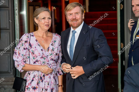 Stock Picture of King Willem-Alexander arrives at Together - An Ode to Nature a special performance of the NatuurCollege in Theater Carre