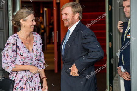 King Willem-Alexander arrives at Together - An Ode to Nature a special performance of the NatuurCollege in Theater Carre