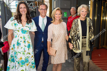Stock Picture of Prince Jaime of Bourbon-Parma and Princess Viktoria de Bourbon de Parme and Princess Carolina de Bourbon de Parme and Princess Irene arrives at Together - An Ode to Nature a special performance of the NatuurCollege in Theater Carre
