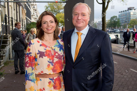 Stock Picture of Prince Carlos of Bourbon-Parma and Annemarie Cecilia Gualtherie van Weezel arrives at Together - An Ode to Nature a special performance of the NatuurCollege in Theater Carre