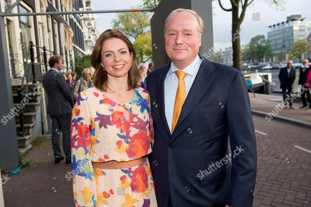 Stock Image of Prince Carlos of Bourbon-Parma and Annemarie Cecilia Gualtherie van Weezel arrives at Together - An Ode to Nature a special performance of the NatuurCollege in Theater Carre
