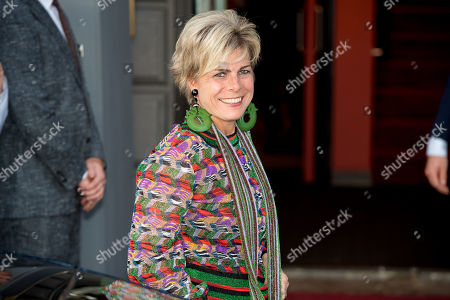 Princess Laurentien arrives at Together - An Ode to Nature a special performance of the NatuurCollege in Theater Carre