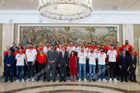 Spanish Royals receive the Spanish Basketball Team, Madrid