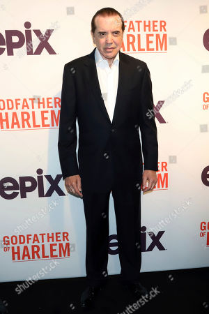 """Chazz Palminteri attends a special screening of """"Godfather of Harlem,"""" at the Apollo Theater, in New York"""