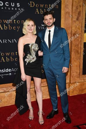 "Laura Carmichael, Michael Fox. Actors Laura Carmichael, left, and Michael Fox attend the premiere of ""Downton Abbey,"" at Alice Tully Hall, in New York"