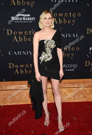 "Laura Carmichael attends the premiere of ""Downton Abbey,"" at Alice Tully Hall, in New York"