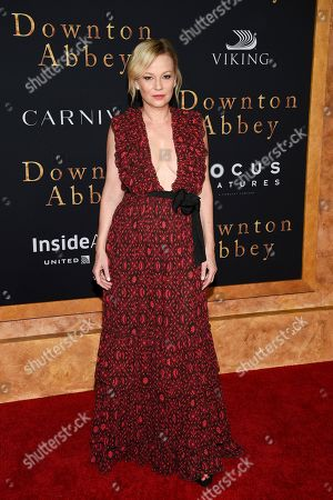 """Stock Image of Samantha Mathis attends the premiere of """"Downton Abbey,"""" at Alice Tully Hall, in New York"""