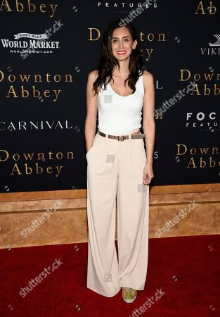 """Stock Picture of Mozhan Marno attends the premiere of """"Downton Abbey,"""" at Alice Tully Hall, in New York"""