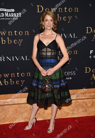 """Raquel Cassidy attends the premiere of """"Downton Abbey,"""" at Alice Tully Hall, in New York"""