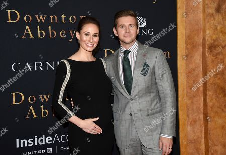 "Jessica Blair Herman, Allen Leech. Actor Allen Leech, right, and wife Jessica Blair Herman attend the premiere of ""Downton Abbey,"" at Alice Tully Hall, in New York"