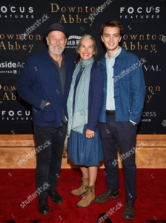 "Corbin Bernsen, Amanda Pays, Finley Bernsen. Actors Corbin Bernsen, left, and Amanda Pays pose with their son Finley Bernsen at the premiere of ""Downton Abbey,"" at Alice Tully Hall, in New York"