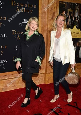 """Martha Stewart, Sandra Lee. Martha Stewart, left, and Sandra Lee attend the premiere of """"Downton Abbey,"""" at Alice Tully Hall, in New York"""