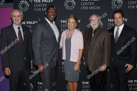 Stock Picture of Neal Pilson, Carl Banks, Lesley Visser, Joe Horrigan, Kenny Albert