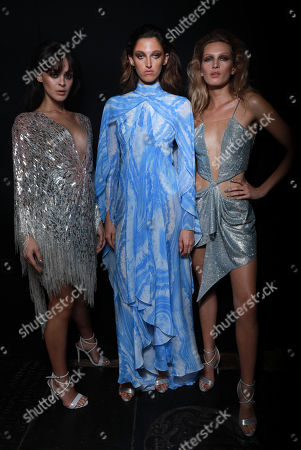 Genevieve Potgieter and models backstage