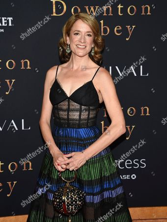 """Raquel Cassidy attends the premiere of """"Downton Abbey"""" at Alice Tully Hall, in New York"""