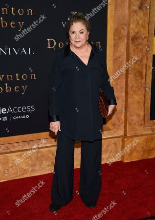 """Stock Photo of Kathleen Turner attends the premiere of """"Downton Abbey"""" at Alice Tully Hall, in New York"""