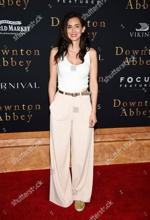 """Mozhan Marno attends the premiere of """"Downton Abbey"""" at Alice Tully Hall, in New York"""