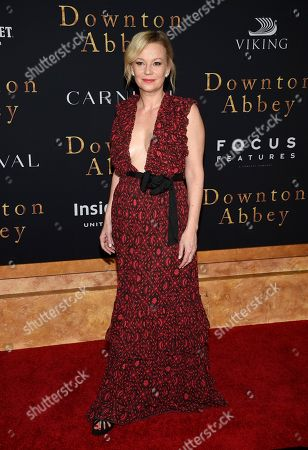 """Samantha Mathis attends the premiere of """"Downton Abbey"""" at Alice Tully Hall, in New York"""