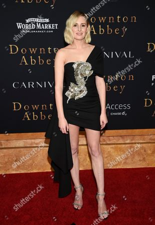 "Laura Carmichael attends the premiere of ""Downton Abbey"" at Alice Tully Hall, in New York"