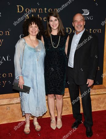 "Susie Essman, Jim Harder. Susie Essman, left, and husband Jim Harder pose with their daughter at the premiere of ""Downton Abbey"" at Alice Tully Hall, in New York"
