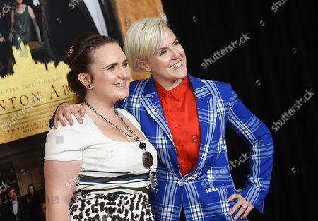 "Ella Mielniczenko, Hannah Hart. Hannah Hart, right, and partner Ella Mielniczenko attend the premiere of ""Downton Abbey"" at Alice Tully Hall, in New York"
