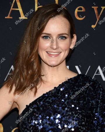 """Sophie McShera attends the premiere of """"Downton Abbey"""" at Alice Tully Hall, in New York"""