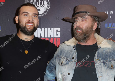 Stock Picture of Nicolas Cage and son Weston Cage