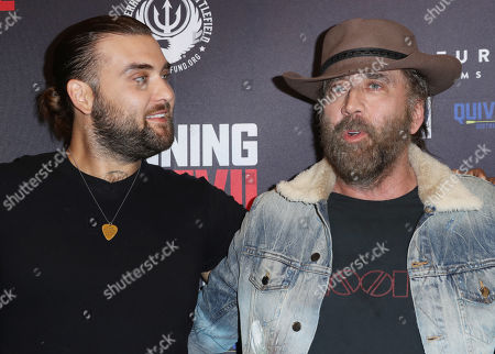 Stock Image of Nicolas Cage and son Weston Cage