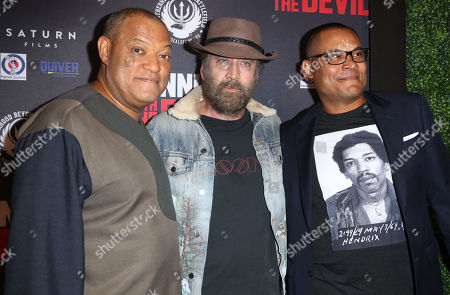 Stock Image of Laurence Fishburne, Nicolas Cage and Jason Cabell